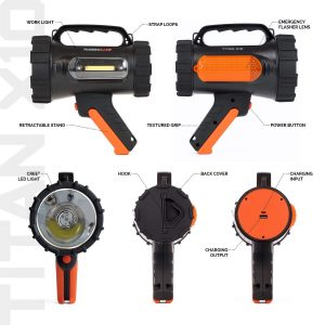 Rugged Camp Titan X10 Rechargeable Spotlight-1