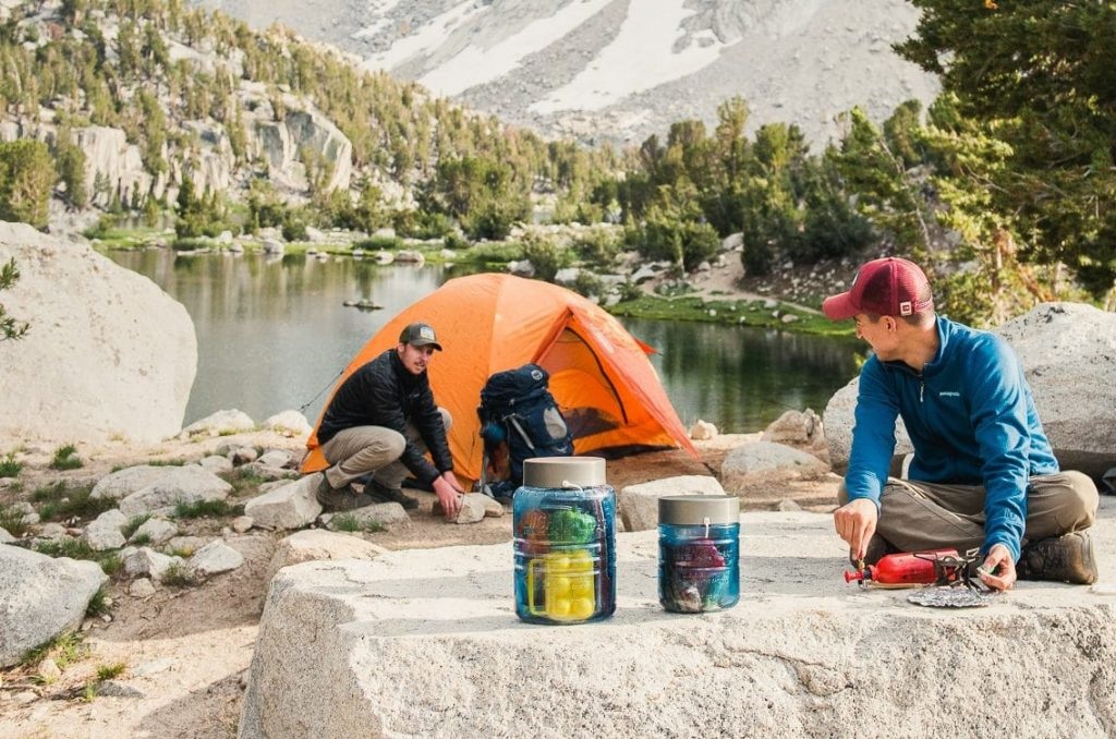 camping with bear canister