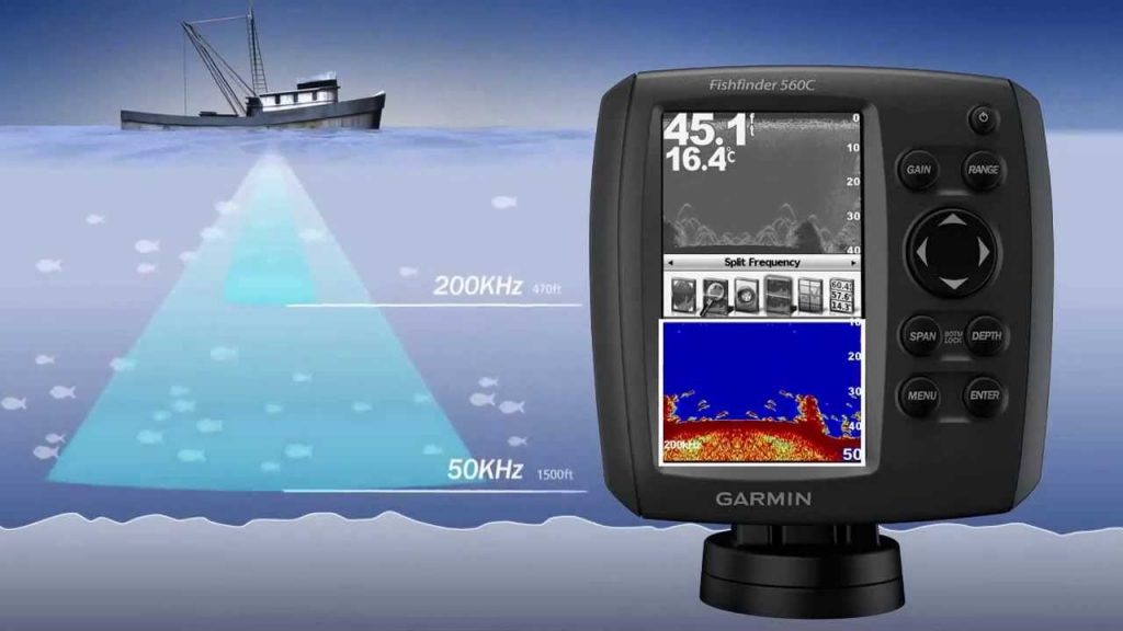 Maximum depth of fish finder