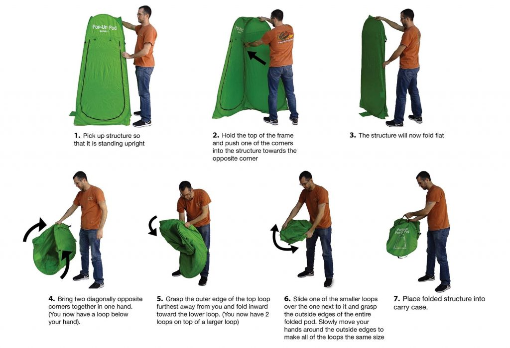 How to Fold a Tent?